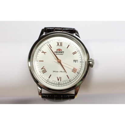 "Orient ""Bambino"" Roman Dial Automatic Mens Watch (ER2400BW)"